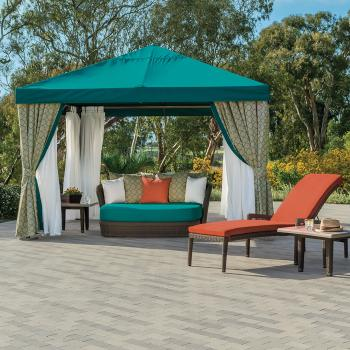 outdoor square cabana