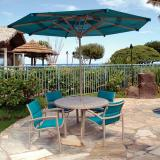 modern outdoor padded sling chairs
