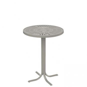 outdoor round aluminum bar table